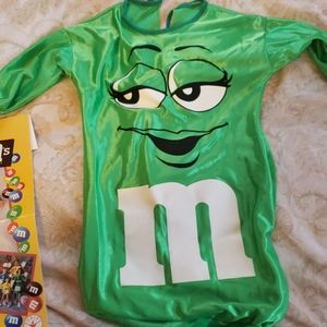 Green m&m baby bunting costume